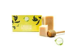 Mydło Naturalne z woskiem pszczelim 100% roślinne 100 g