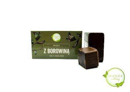 Mydło Naturalne z borowiną 100% roślinne 100 g (1)