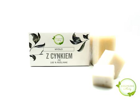 Mydło Naturalne z Cynkiem 100% roślinne 100 g (1)